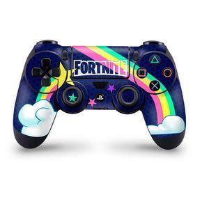 Rainbow Rider Playstation 4 Controller Skin Fortnite Fan Art Manette Ps4 Console De Jeux Video Manette