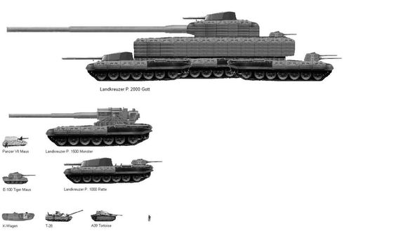 納粹的超級坦克Landkreuzer圖像及照片 - NearPics