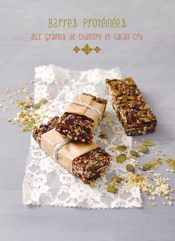 My Sweet Faery: Barres protéinées aux graines de chanvre et cacao cru