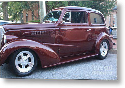 1937 Chevy Two Door Sedan Side View Metal Print By John Telfer Chevy Sedan Classic Cars Trucks Hot Rods