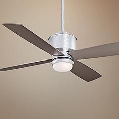 "52"" Minka Aire Strata Galvanized Ceiling Fan with Light Kit"