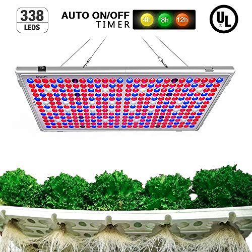 Relassy 300w Led Grow Light Panel Auto On Off Timer Function 338