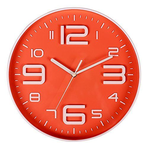 Bien Zs Non Ticking Silent Quartz Wall Clock With Big 3d Number Modern Design Quiet Sweep Movement Indoor Decorative For Living Room Kitchen Wall Clocks Battery Wall Clock Wall Clock Modern Clock