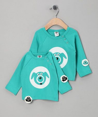 Take a look at this Cyan Puppy Organic Tee  by Little Minds on #zulily today!