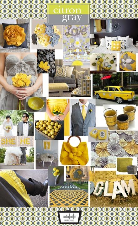 gray and yellow. my favorites together...