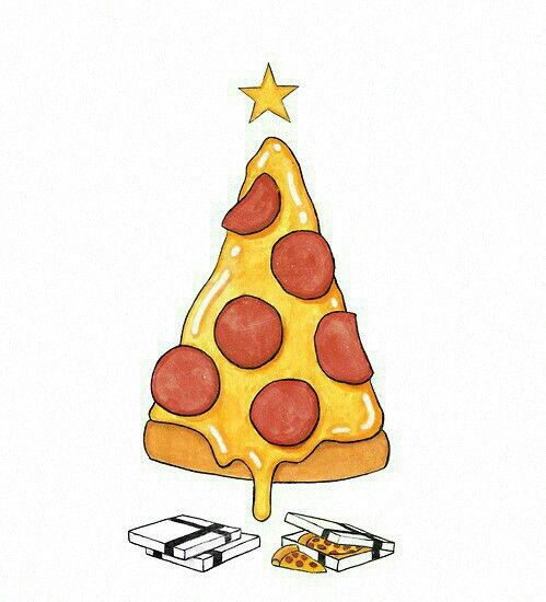 Pizza tree #new year  pizza -  me