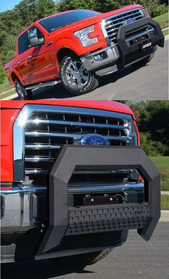 Check out our Ford F150 Maxforce style of Bullbar. It truly adds unique styling and vehicle protection. Available in the Black or Chrome powder coated finish.