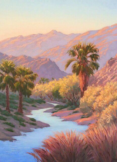 Pin On Desert Landscape Paintings