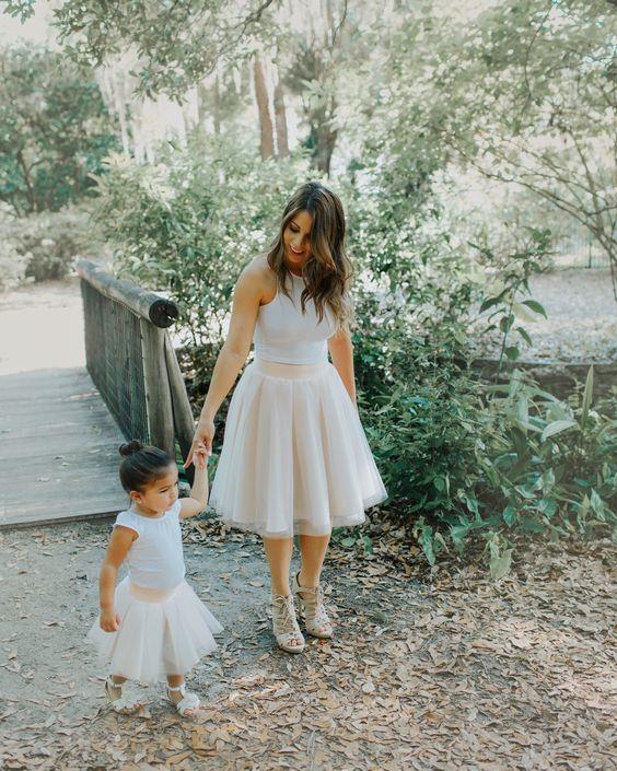 Mommy and me! A tulle skirt is always a good idea! #mommyandme #tulleskirt #mommyandmeoutfits #blisstulle