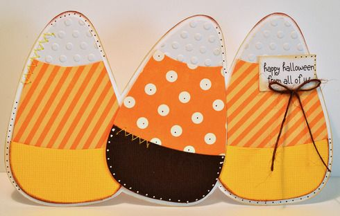 Candy Corn Trio Halloween Card : Gallery : A Cherry On Top