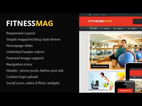 FitnessMag - Responsive Blogging WordPress Theme + Free Download