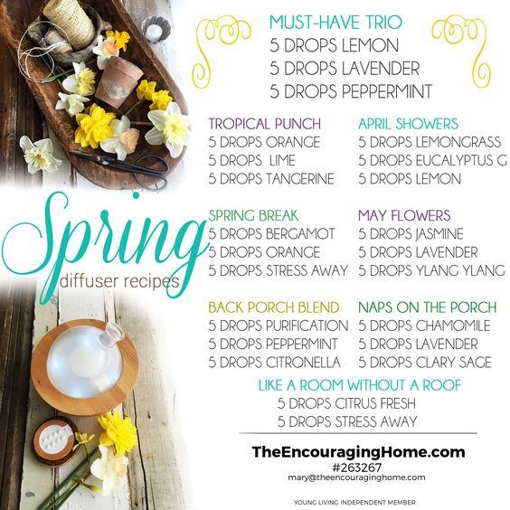 Spring Diffuser Recipes