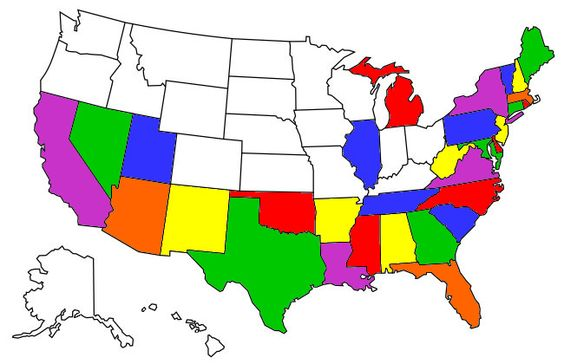 Visited States Map States Ive Already Been To Pinterest - Map of us states i ve visited