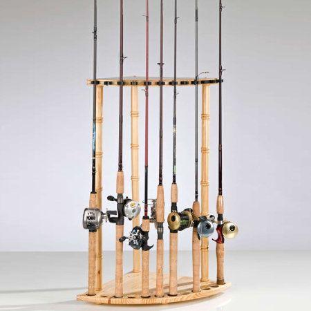Organized fishing corner rod rack 12 capacity pcr012 for Gander mountain fishing poles