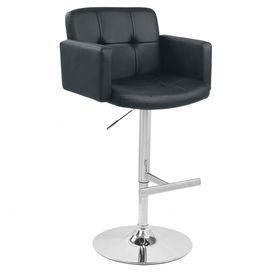 Stout Adjustable Height Bar Stool in Black