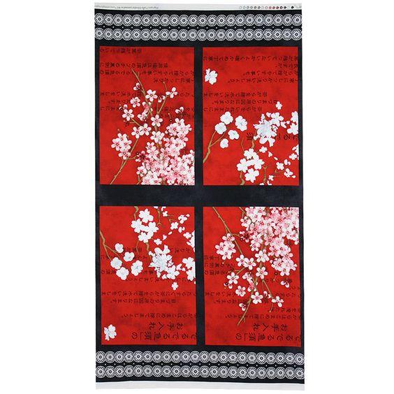 Hanami Falls Panel Cotton Fabric by Beverlys.com