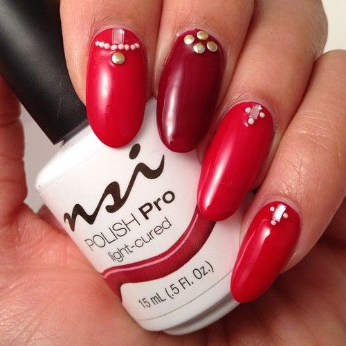 Love This Bling'd Out Polish Pro Gel Manicure!  www.nsinails.com #NSI