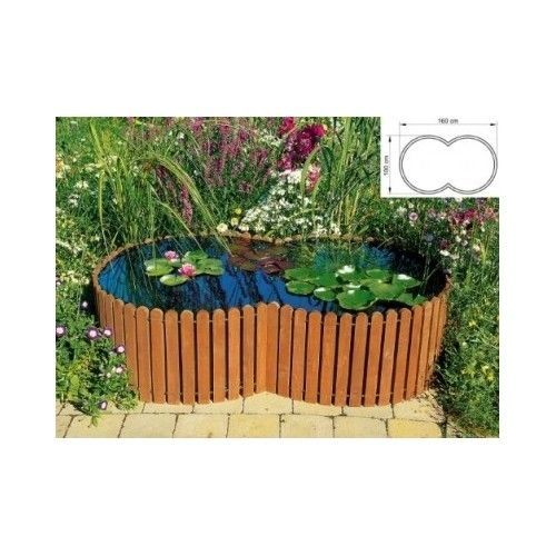 Raised garden pond curved roof water feature patio fish for Garden pond raised