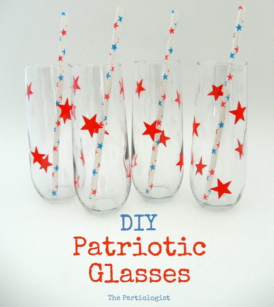 DIY star glasses using contact paper and a punch! from The Partiologist