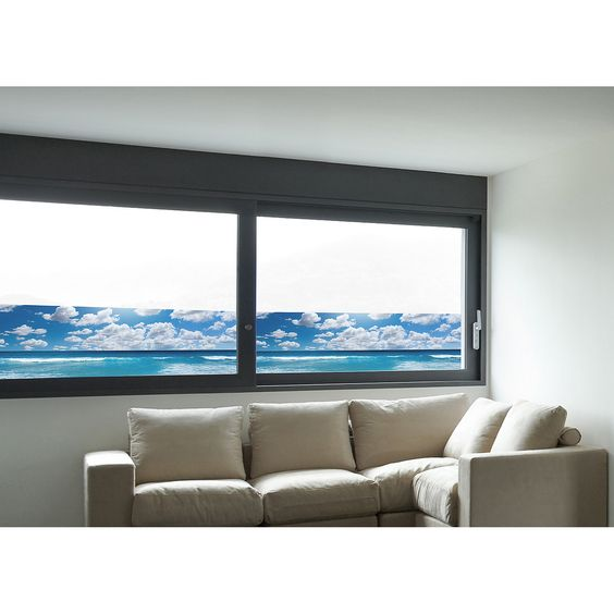 Brewster Home Fashions Euro Sea Panoramic Window Film