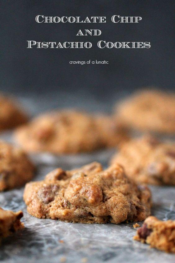 Pistachio Cookies | cravingsofalunatic.com | Chocolate and Pistachios ...