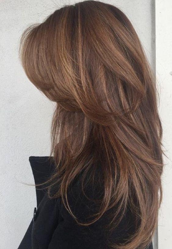 Стрижка «каскад» • Удлиненная челка • Длинные волосы #haircuts #стрижка