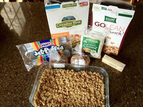 """sorta healthy cereal treats"" healthier than rice crispy treats."