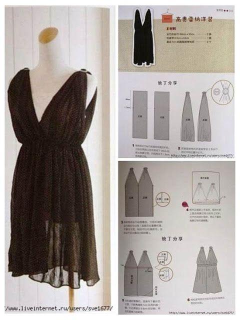 Comment Coudre La Robe 4 Rectangles Comment Coudre Couture Facile Robe Coudre Robe