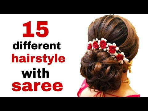 15 Different Hairstyle For Saree Youtube Easy Bun Hairstyles