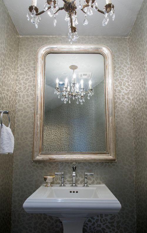 Wild Thing Animal Print Bathrooms Powder Room Ideas Elegant
