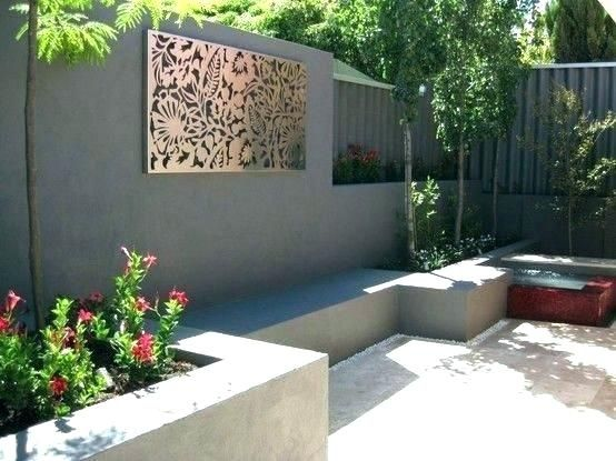 Backyard Wall Decor Outside Wall Ideas Backyard Wall Decor Outdoor
