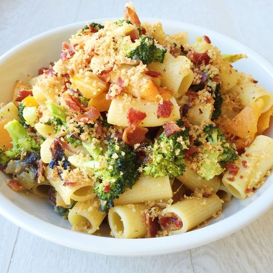 Cheesy+Rigatoni+with+Roasted+Broccoli,+Butternut+Squash,+and+Bacon++ ...