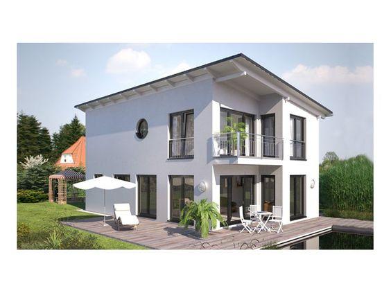 Hommage 136 einfamilienhaus von hanlo haus vertriebsges for Fertighaus flachdach modern