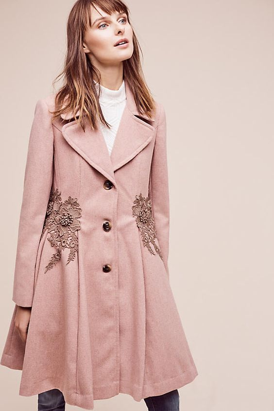 Astoria Embroidered Coat | Anthropologie: