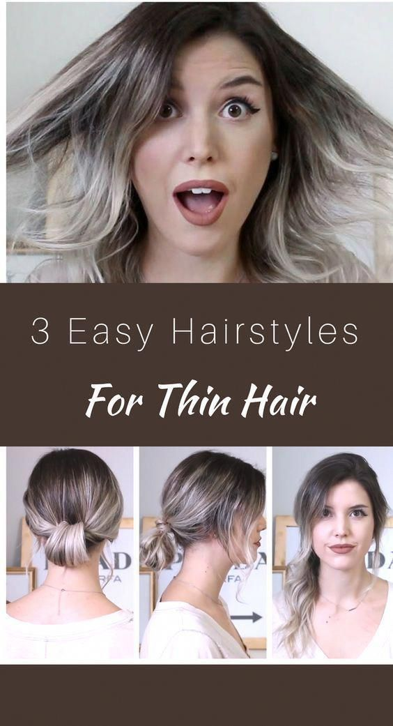 Easy Hairstyles For Thin Hair Absolutely Adorable Beautiful Hairstyles For And Casual Encounters Or Occa Short Hair Updo Medium Length Hair Styles Hair Lengths