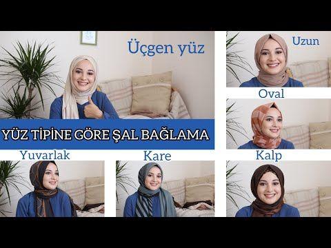 Yuz Tipine Gore Sal Baglama 6 Farkli Sal Modeli Youtube Sal