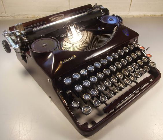 Triumph Perfekt/Norm 6 - The famed company's writing machines are not quite as legendary as their motorcycles, but are excellent typers nonetheless. Take caution with the bakelite body because it is easily damaged. Photo courtesy Robert Messenger @ the OZ Typewriter blog.