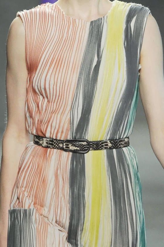 PRINTS, PATTERNS, TRIMMINGS AND SURFACE EFFECTS FROM MILAN FASHION WEEK (A/W 14/15 WOMENSWEAR) / 2 From Milan womenswear catwalks, beautiful details and inspirations. Bottega Veneta