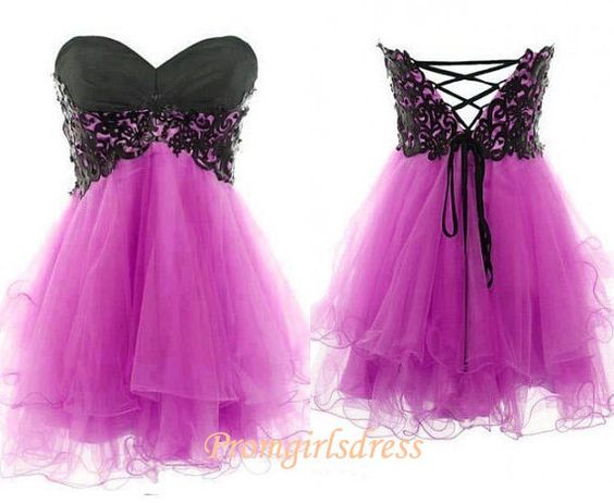 Purple Homecoming Dress, Short Purple Homecoming Dresses, Purple Prom Dresses, Bridesmaid Dresses Purple, Short Purple Cocktail Dress