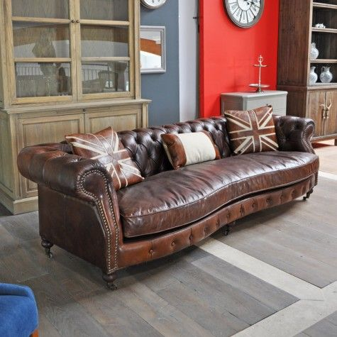 Canape chesterfield british dialma brown interiors for Chesterfield canape