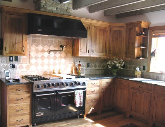 Wormy Chestnut Kitchen Cabinets For Sale
