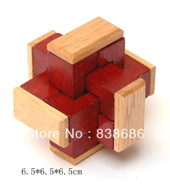 chinese Wooden puzzle Toys | Chinese Traditional Wooden Educational Puzzle Lock Kids baby wood Toys ...