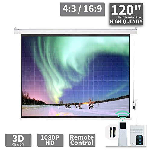 Baochen 120 Electric Projector Screen Indoor And Outdoor Movies Screen 120 Inch Motorized 4 3 Projector Scre In 2020 Outdoor Movie Screen Outdoor Movie Movie Screen
