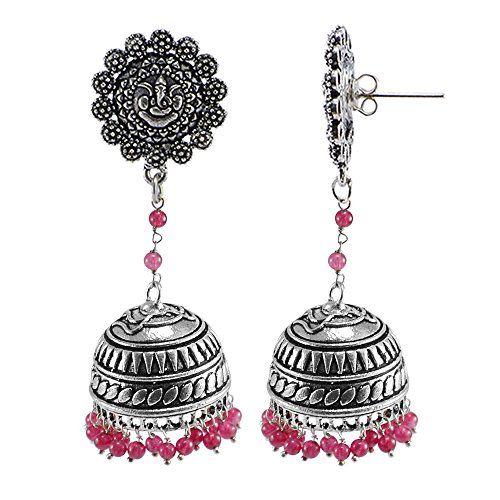 Zephyrr Earrings Jewellery Silver Heavy Weight Hook Dangler with Tassel For Girls and Women