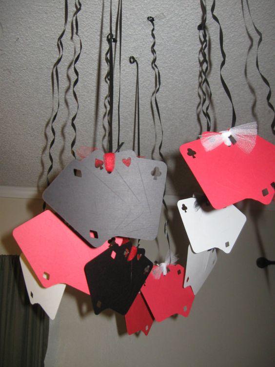 Décorations pour les fêtes, thème Casino, Casino, Blackjack, 21e anniversaire, poker
