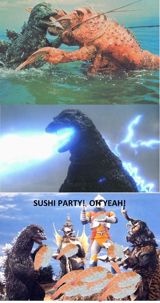 Godzilla Sushi Party
