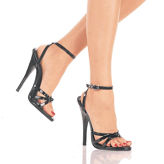 5 1/2 Inch High Heels Sandals With Ankle Straps. Heel Heights ...