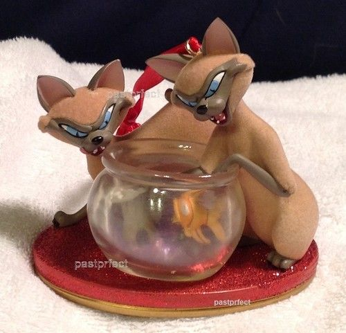"Disney SI and Am Cats Christmas Ornament 3 5"" Lady The Tramp Brand New w Tag 