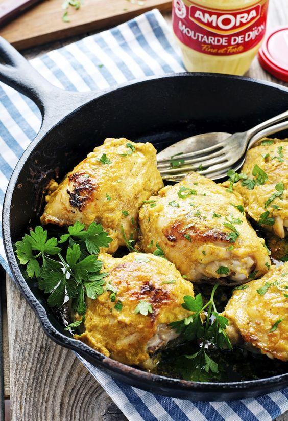 4-Ingredient Deviled Chicken Thighs: