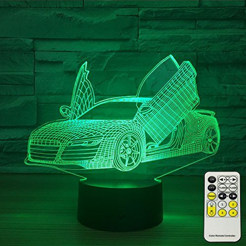 Insonjohy Sport Car 3d Optical Illusion Lamps Night Light Https Smile Amazon Com Dp B078z97g4w Ref Night Light Kids 3d Optical Illusions Baby Room Colors